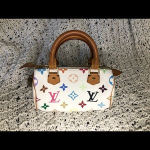 ✨ AUTHENTIC ✨ Murakami x LV Multicolor Mini Speedy
